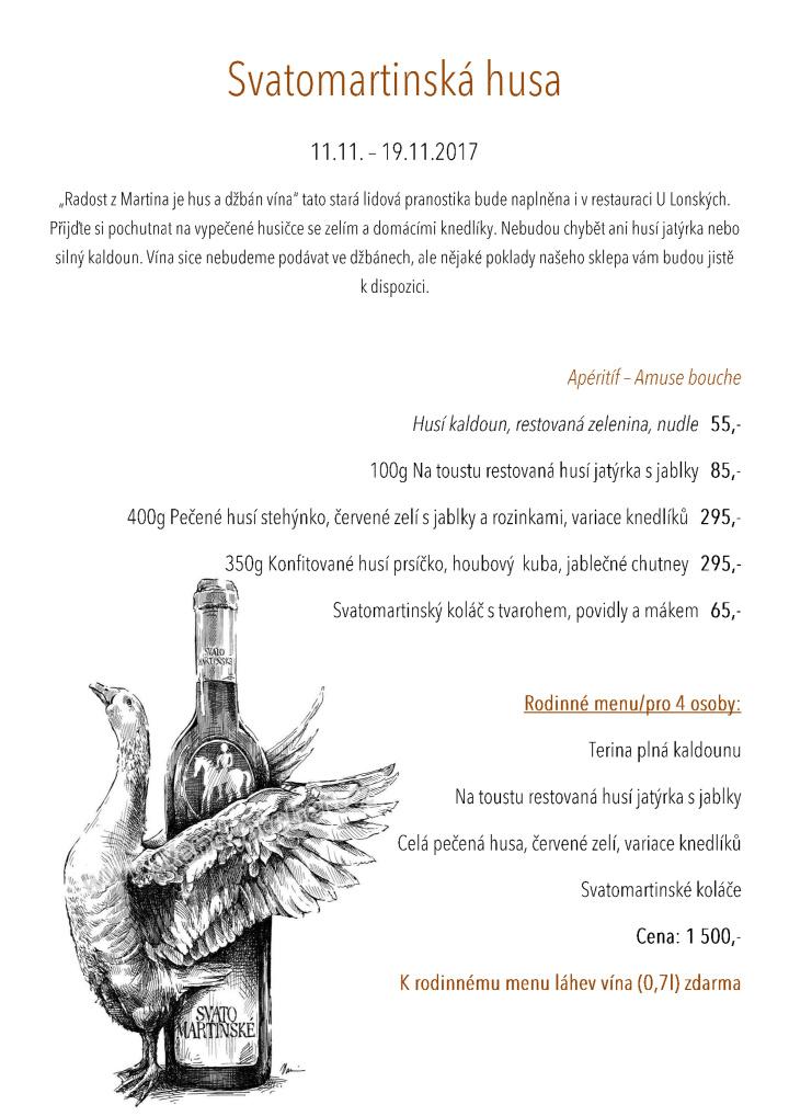 Svatomartinské menu